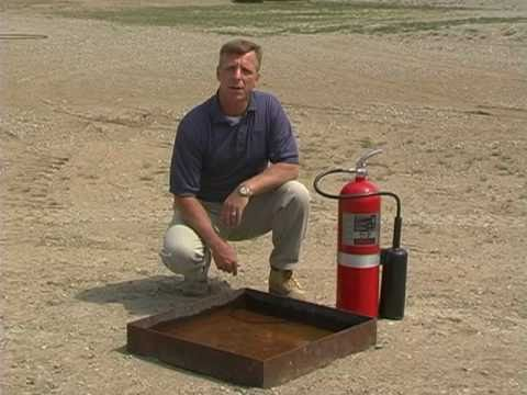 CO2 - How to use a fire extinguisher  training