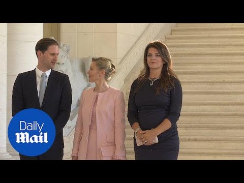 Luxembourg's 'First Gentleman' joins NATO spouses for photo op - Daily Mail