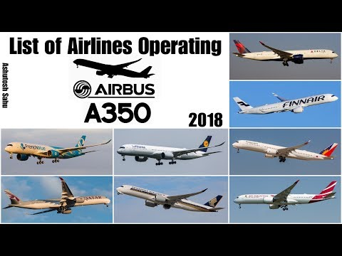 List of Airbus A350 Operators (Present + Future) [2018]