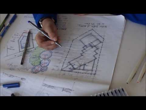 How to develop architectural concept design for a house or bungalow