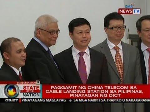SONA: Paggamit ng China telecom sa cable landing station sa Pilipinas, pinayagan ng DICT