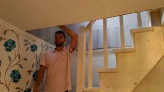 видео Лестница в частном доме на второй этаж: дизайн, фото, размеры, отделка