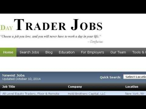 Proprietary Trader Job Description