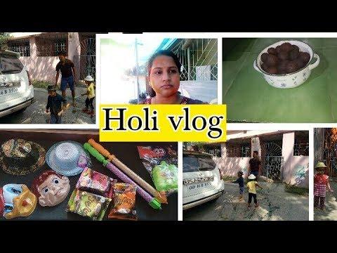 Holi Preparation and Holi Celebration  Vlog 2018 | Indian Mum Holi Celebration | Toy N Joy