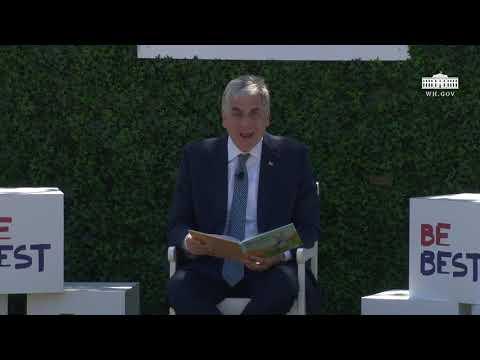 White House Easter Egg Roll Reading Nook - Deputy Secretary of HHS David Hargan