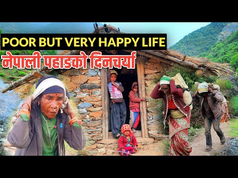 Poor but very happier people in Nepal village Life || Daily life of Village People || IamSuman