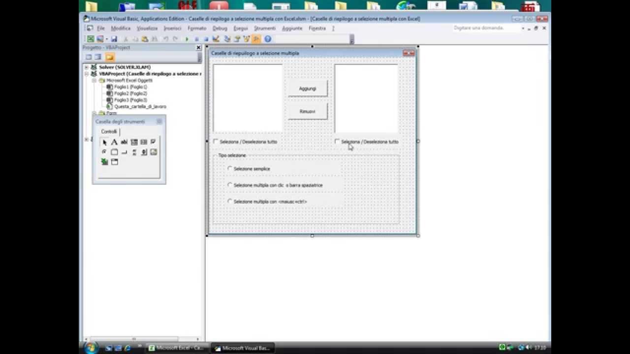 Caselle Di Riepilogo A Selezione Multipla Con Excel E Vba