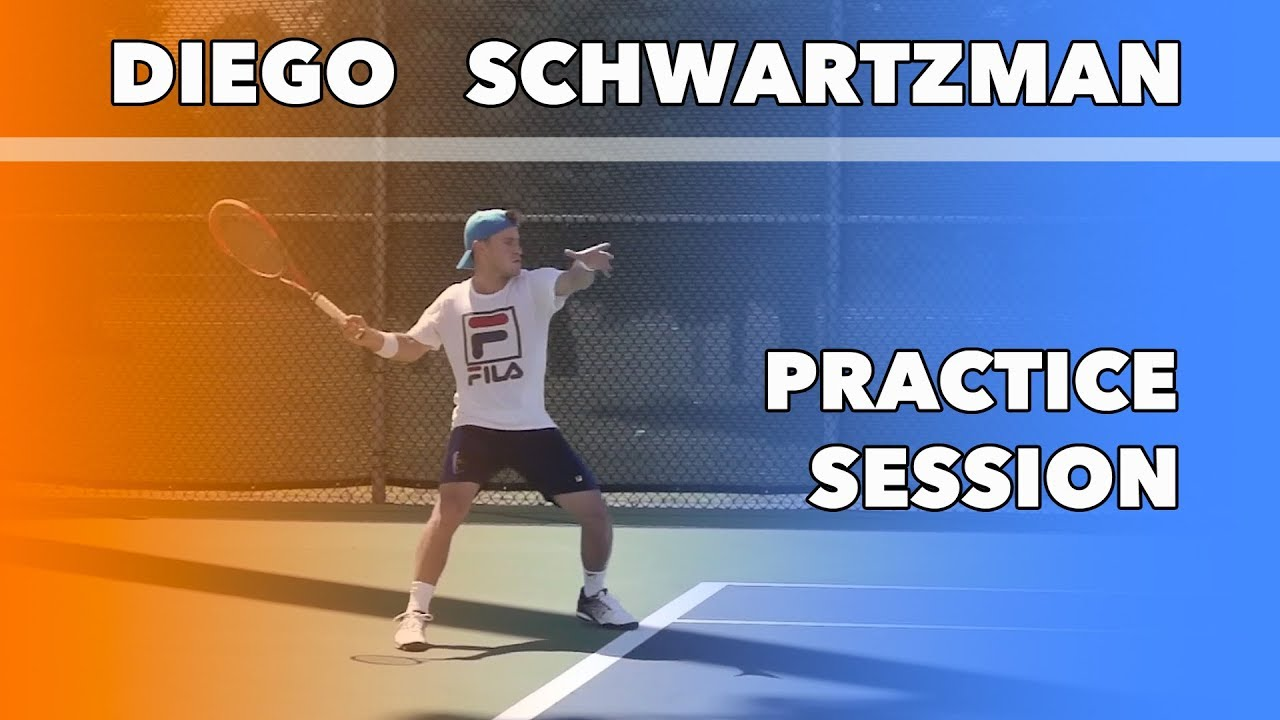 Diego Schwartzman Practice Session Hard Worker Youtube