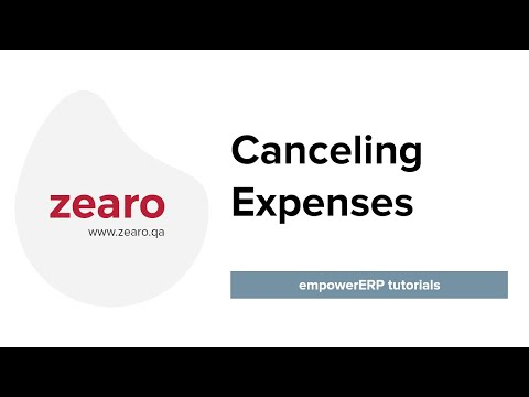 Expense Cancel in empower ERP.