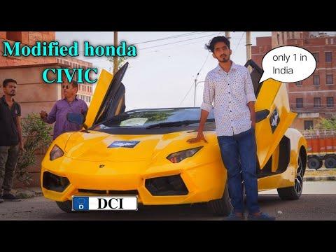 Honda Civic modified into Lamborghini 😱 by (Dream customs India). (Rajendra gurjar)