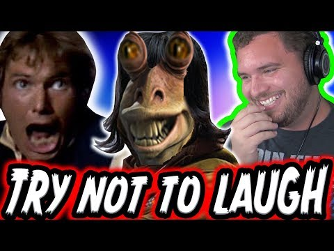 TRY NOT TO LAUGH CHALLENGE: STAR WARS EDITION!  Episode 1