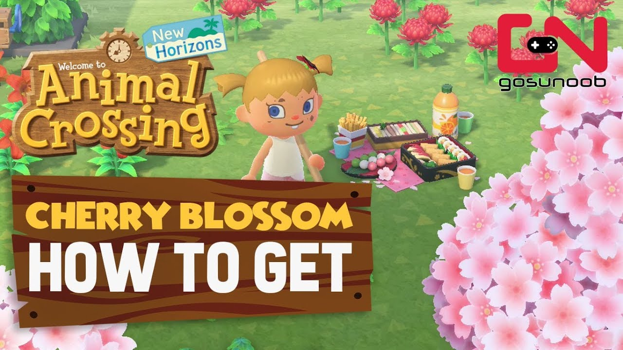 How To Get Cherry Blossom Tree Picnic Set Animal Crossing New Horizons Youtube