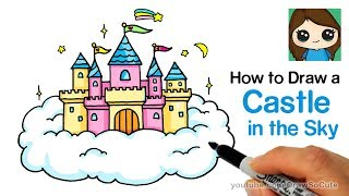 How to Draw a Castle in the Sky Easy