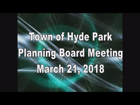 Hyde Park Planning Board 3-21-18