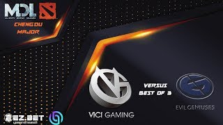 Evil Geniuses  vs Vici Gaming   Best of 3   MDL Chengdu Major  UPPER BRACKET