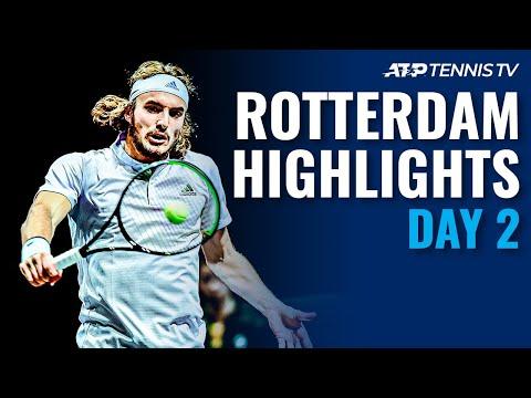 Tsitsipas Stops Hurkacz; Auger-Aliassime Advances | Rotterdam 2020 Day 2 Highlights
