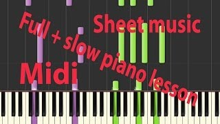 Sam smith - Stay with me ( piano tutorial ) midi, sheet music