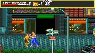 Street of Rage (Bare Knuckle) Stage 1 Gameplay (PSN/Sega Genesis/PC) [HD]