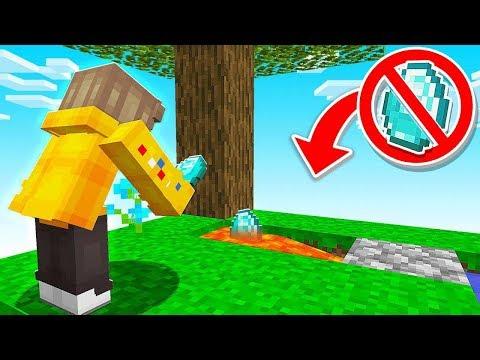 I LOST My DIAMOND to LAVA in Minecraft Sky Block