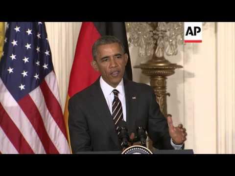 Obama-Merkel news conference; photo op