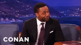 Chiwetel Ejiofor Michael Fassbender Is A Paintball Fiend  - CONAN on TBS
