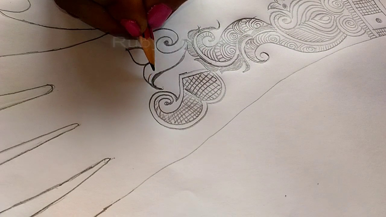 Mehndi Design On Paper How To Make simple Uniqe Henna Mehndi Art On Paper  By Ruby Mehndi