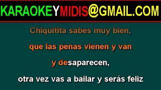 midi abba - chiquitita (español) karaoke