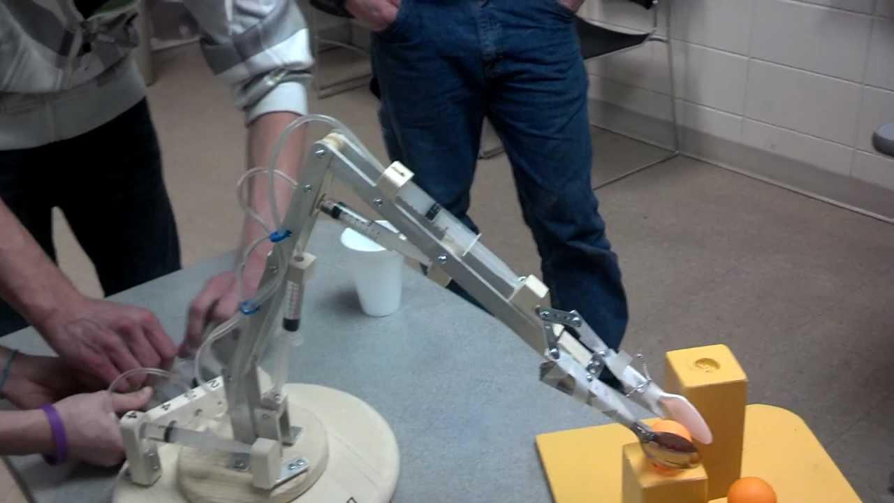 Engineering Mechanical Arm Syringe : Syringe robot hydraulics i project youtube