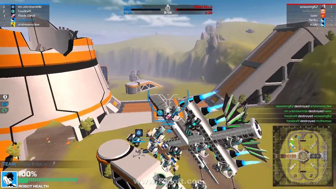 Robocraft GAMEPLAY in PLANE HD   Steam