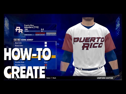 How To Create Jerseys/Uniforms In Diamond Dynasty (MLB The Show 17)