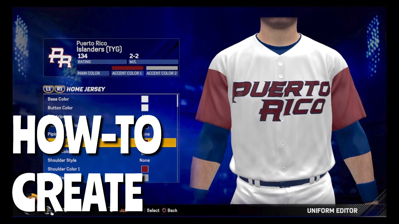 8fc74d4f656 How To Create Jerseys Uniforms In Diamond Dynasty (MLB The Show 17 ...