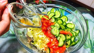 САЛАТ НА КАЖДЫЙ ДЕНЬ! МАМА научила готовить только Так! ОБАЛДЕННЫЙ салат из Капусты.