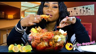 Lobster Tails in Sauce Mukbang @ 4:57