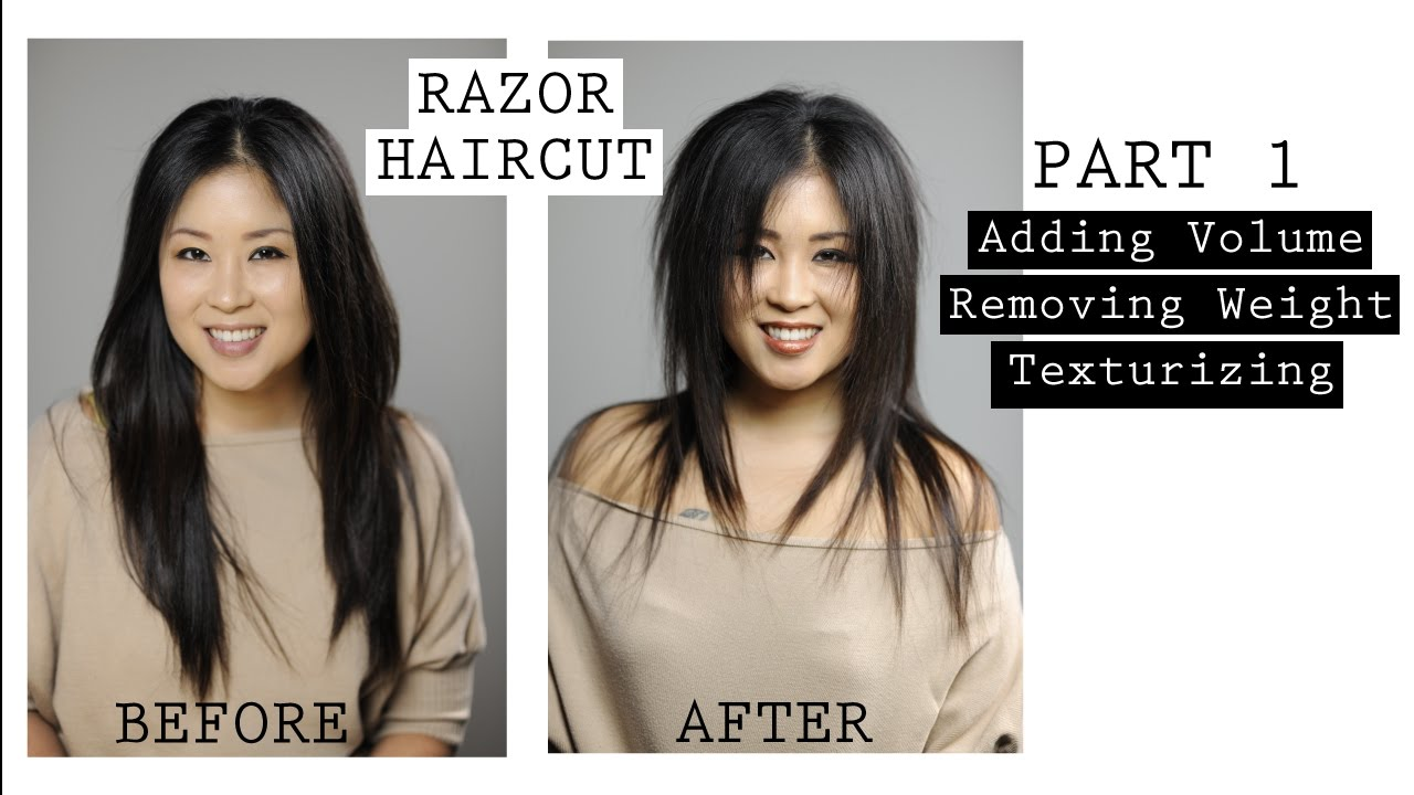 Classic Texturizing Techniques Using The Feather Razor Part 1 Youtube