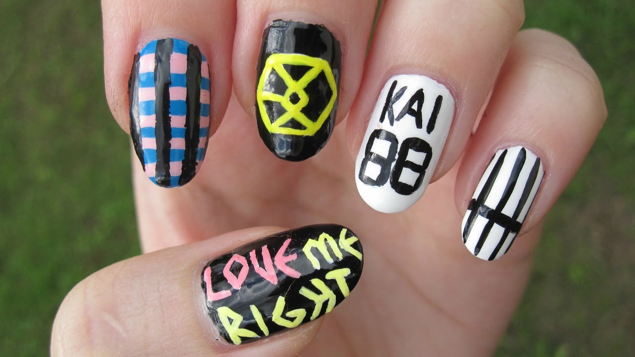 Kpop: EXO - Love Me Right nail art - YouTube