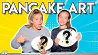 SISTER VS SISTER MAGNIFICENT PANCAKE ART CHALLENGE!