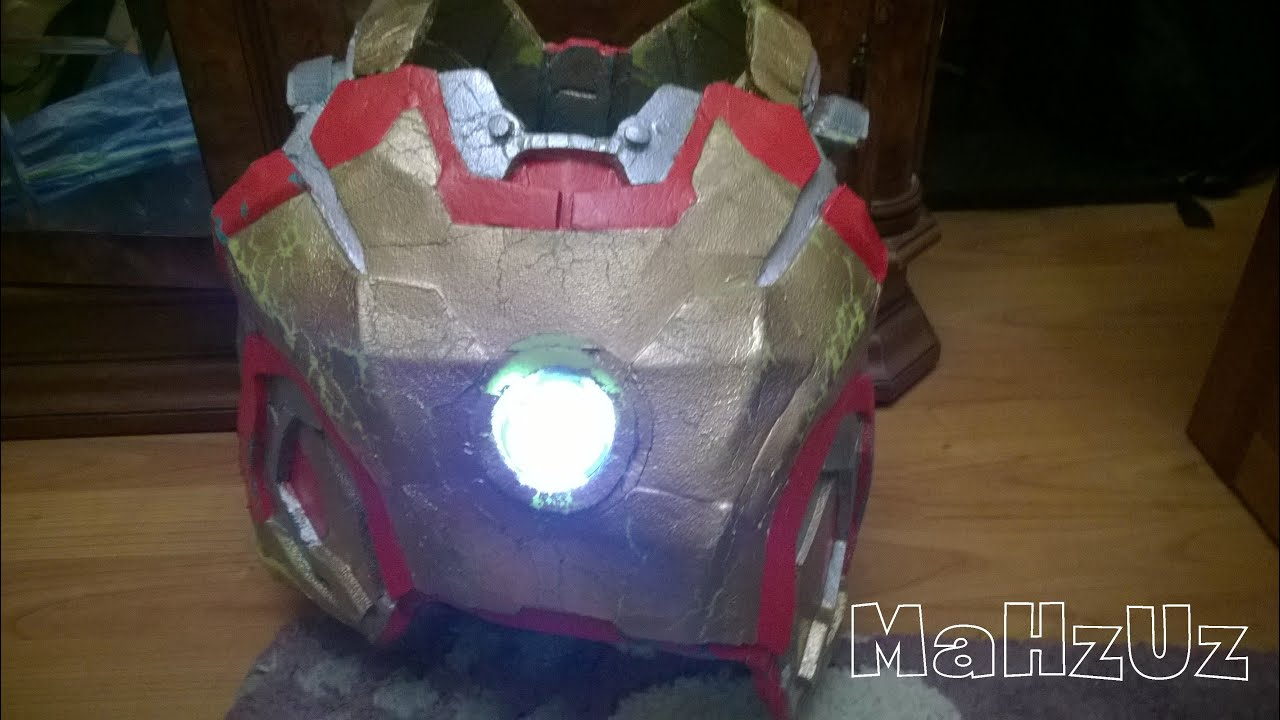 cosplay iron man colocacin luces pecho