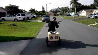 Young Nard Rides 3 Wheel Bike With System??