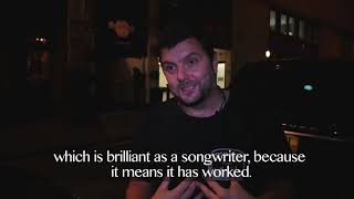 Where does songwriter Simon James get his inspiration?