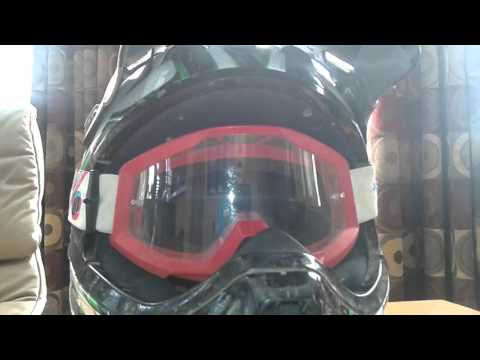 How to apply tear offs on 100% goggles  (easy)