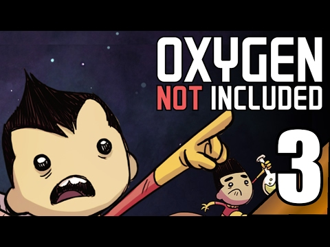Oxygen Not Included (Pre Release) 3:  CO2 is starting to build up...  Let's Play ONI Gameplay