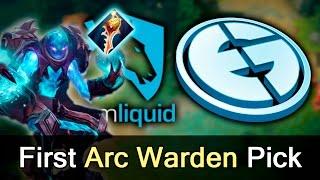 Arc Warden first pick ever by EG vs Liquid — Dota 2