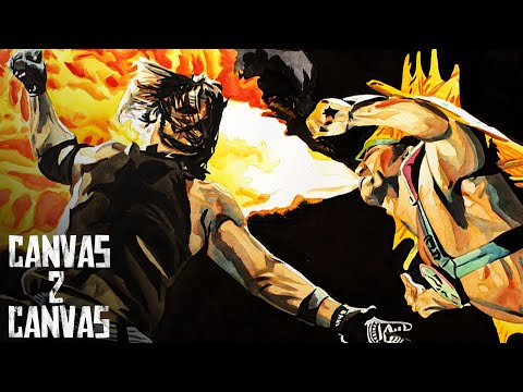 "Dream Match Series - AJ Styles vs. Ricky ""The Dragon"" Steamboat: WWE Canvas 2 Canvas"