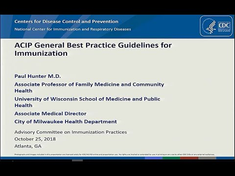 October 2018 ACIP Meeting - General Recommendations; Influenza; Rabies; Meningococcal; Pertussis