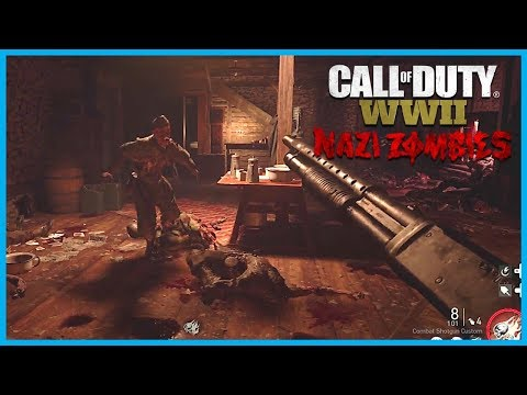 "Call of Duty: World War II Zombies ""Groesten Haus"" Gameplay! (WW2 Zombies Survival Map)"