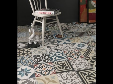 Tiles Etc London UK Encaustic Handmade Cement Tiles YouTube - Faux encaustic tile
