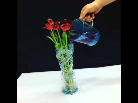 3d Printed Intertwine Vase Being Filled With Water Youtube