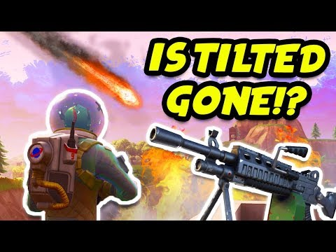 NEW UPDATE! IS TILTED TOWERS HIT BY THE METEOR!? NEW LMG & 50 VS 50 MODE! (Fortnite Battle Royale)