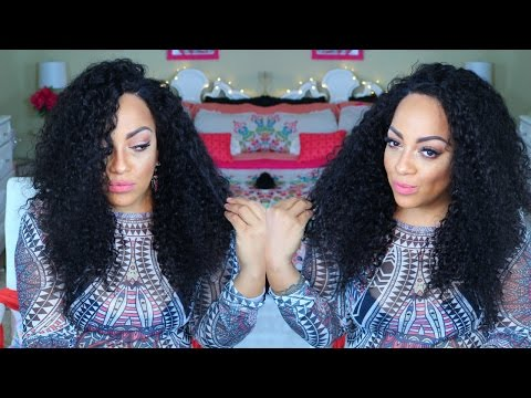 HAIR PORN FOR YOUR ASS  | CHEAP AF VIRGIN CURLY LACE FRONTAL WIG ♡ imi hair aliexpress