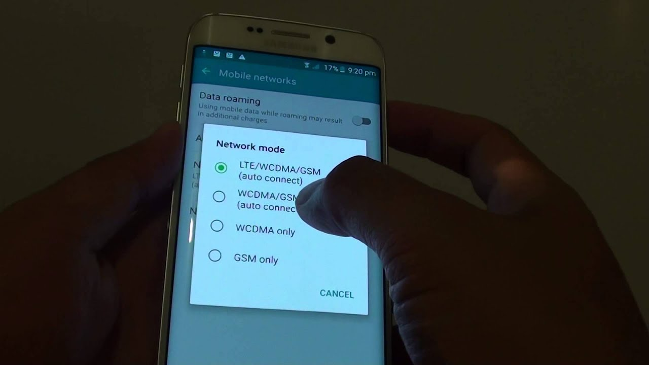 Samsung Galaxy S6 Edge: How to Change Network Mode (LTE / GSM / WCDMA)
